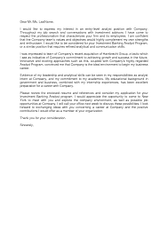 Fanciful Investment Banking Cover Letter 15 Letter Writing Sample