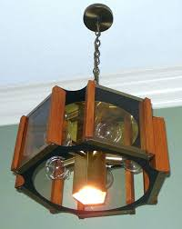 vintage chandelier with beveled carved glass panels fredrick ramond lighting