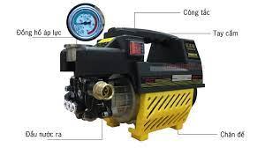 Máy rửa xe mini 1800W tự hút nước, tự ngắt, mô tơ từ