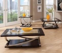 glass living room table sets. 3 piece glass coffee table set living room sets o