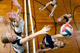 Image result for kids playing volleyball