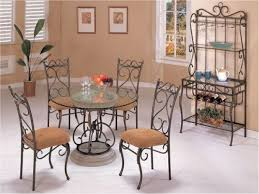 delightful wrought iron dining table inspiration round glass top dining table stunning layout wrought iron dining