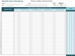 Attendance List Template - Sheets For Word And Excel®