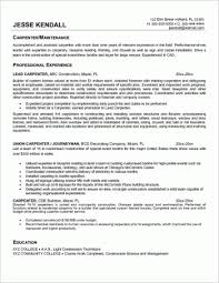 carpentry resume sample unforgettable apprentice carpenter resume