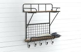 metal wall shelf wire wall organizer mounted wall organizer wire wall bin organization rack shelf wood