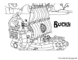 jake and the never land pirates bucky coloring book pagesfree