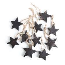10 Stück Holzsterne Sterne Holz Weihnachtssterne 5 Cm Braun Dunkelbraun Natur Weihnachtsanhänger
