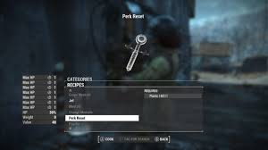 Fallout 4 Level Up Chart Fallout 4 New Mod Allows Players To Reset And Refund Perks