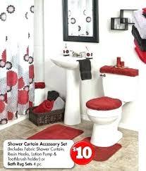 red bathroom rugs stylish bright