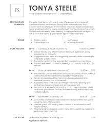 Resume Unforgettable Restaurant Server Resume Examples To