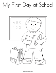 Small Picture First Day Of School Coloring Pages fablesfromthefriendscom