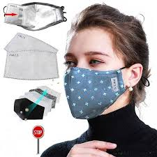 PM2.5 <b>Cotton Black Mouth</b> Mask Anti Dust Mask Activated Carbon ...
