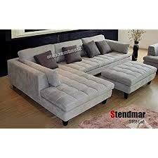 pit sectional couches. Contemporary Couches 3pc Contemporary Grey Microfiber Sectional Sofa Chaise Ottoman S168LG With Pit Couches T