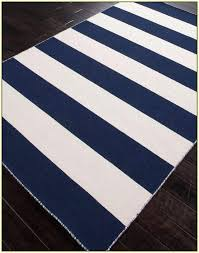 striped area rug navy blue and white striped rug