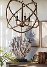 shades of light rope sphere chandelier