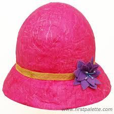 Paper Mache Flower Papier Mache Hat Craft Kids Crafts Firstpalette Com
