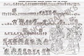 Transformers G1 Scale Chart New Color G1 Season 1 3 Scale Chart Tfw2005 The 2005 Boards