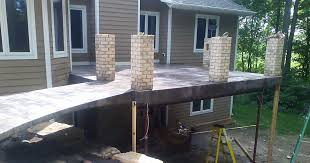 how to build a raised concrete deck best home ideas