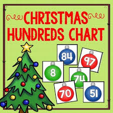 Christmas Chart Images Christmas Hundreds Chart Number Cards