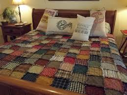 Custom Patchwork Rag Quilt XL Queen Handmade Rustic Made & 🔎zoom Adamdwight.com