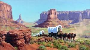 Image result for wagon train paintings
