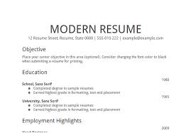 Basic Resume Objectives Free Resume Templates 2018