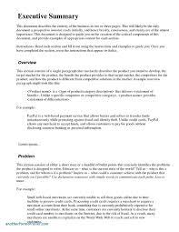 Executive Summary Report Template Business Maggi Locustdesign Co