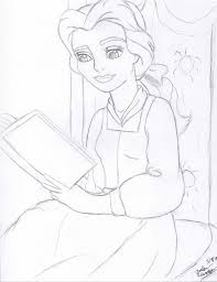 belle reading a book by ursinetimes