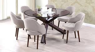 round glass top dining tables 6 round glass top dining table glass top tree trunk dining table uk