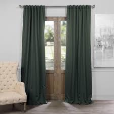 exclusive fabrics furnishings semi opaque dark mallard green blackout curtain 50 in