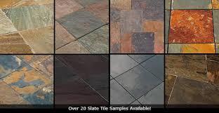 Slate Tile vs Travertine vs Porcelain Flooring Tiles Comparison Chart
