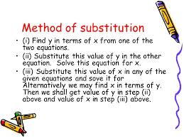 7 method of substitution