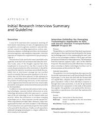 appendix b initial research interview summary and guideline page 65