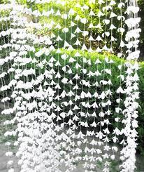 White Paper Flower Garland 10 Strand White Paper Garland Paper Flower Garland Summer Party