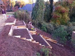 Steep Hill Garden Design Pretty Awesome Raised Garden Beds On A Hillside Gardening
