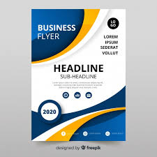 Business Flyer Design Templates Modern Business Flyer Template With Abstract Design Vector
