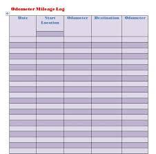 Mileage Tracker Sheet 30 Printable Mileage Log Templates Free Template Lab