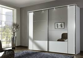 Nice Looking Closet Mirror Sliding Wardrobe Doors With Grey Fur Rug On  Wooden Flooring Idea