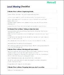 Office Move Checklist Template Excel Free Moving Home Office