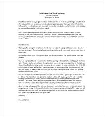 8 Interview Thank You Notes Free Sample Example Format