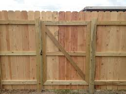Metal Frame Wood Fence Fences Ideas within Build Wood Picket Fence