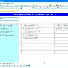Daily Task Calendar To Do List Planner Template Excel Templates For