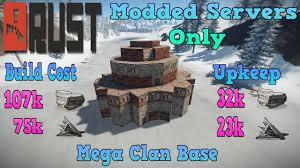Rust Clan Base Design 2019 Rust 3 2 Mega Clan Base Design Modded Servers Only