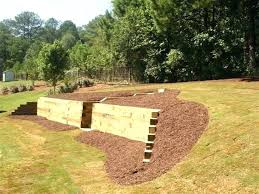 retaining wall designs wood landscape wall timber retaining wall designs and this wood retaining wall landscape