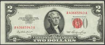 1953 Red Seal Two Dollar Bill Values And Pricing Sell