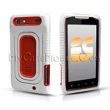 motorola droid razr white. motorola droid razr xt912 case - white red duo shield hard case+skin two-