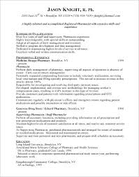 Sample Pharmacist Resume Example