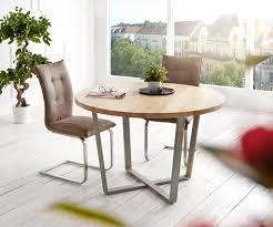 Esstisch Tamana 120x120 Akazie Gebleicht Rund Metallgestell Möbel