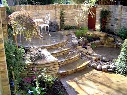 Small Courtyard, Raised Patio Small Yard Landscaping Able Landscaping &  Tree Services Charlotte, ...