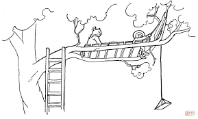 Small Picture Treehouse coloring page Free Printable Coloring Pages